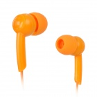 Retractable 3.5mm Jack In-ear Style Earphones for Iphone 4 / 4S - Orange (110cm)