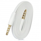 Flat 4-Conductor TRRS 3.5mm Audio Male to Male Connection Cable