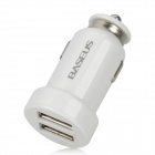BASEUS CCALL-TW02 Mini Dual USB Car Charger für iPhone / iPad / GPS - Weiß