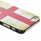 Switzerland Flag Pattern Protective Plastic Back Case for Iphone 5 - Red + Yellow + White + Black
