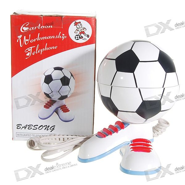 Soccer/Football Land Line Telephone (RJ11)
