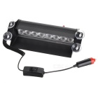 8W 150lm 8-SMD LED Red + Blue Car lámpara de flash - Negro (12V)