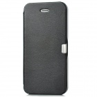 Protective PU Leather + ABS Flip-open Case for Iphone 5 - Black
