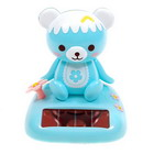 Cute Solar Powered Aqua Blue Head Shaking Panda Table Piece