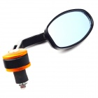 "Motorcycle Rear Mirror for 7/8"" Bar End - Black + Golden (Pair)"