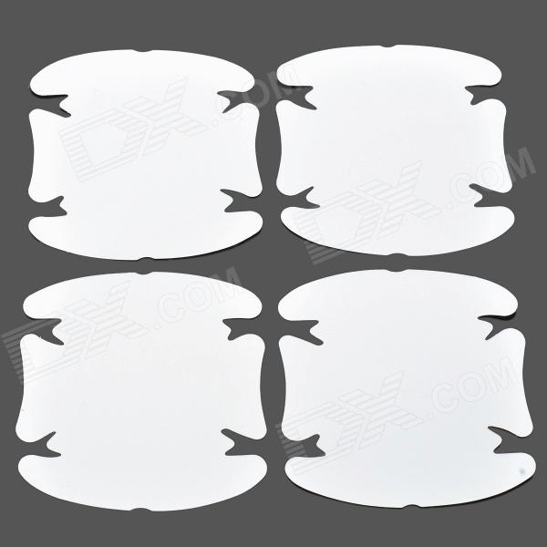 CY004 Door Handle Guard Protector Skin Film for Auto Car - White (4 PCS)