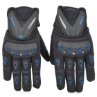 SCOYCO MC10 Full-Fingers Motorcycle Racing Gloves - Black + Blue (Größe L)
