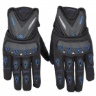 SCOYCO MC10 Full-Fingers Motorcycle Racing Gloves - Black + Blue (Größe M)