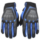 SCOYCO MC08 Full-Fingers Motorcycle Racing Gloves - Black + Blue (Size XL)