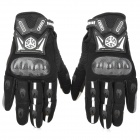 SCOYCO MC18 Waterproof Capacitive Screen Touch Racing Gloves - Black + White + Grau (Größe XL)