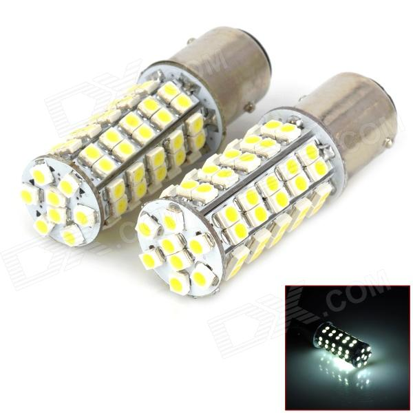 11571210-68W 250LM 1157 4.5W 68-SMD 3528 LED White Light Light Car - (DC 12V / 2 PCS)