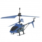 USB Rechargeable 3.5-CH Mini IR R/C Helicopter - Blue