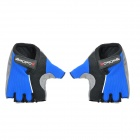 Cool Change Cycling Nylon Warm Half-finger Gloves - Black + Blue (Size XL / Pair)