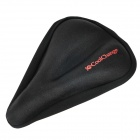 CoolChange KGZD1001 Soft Silicone Cushion Bicycle Saddle Pad Seat Cover - Black