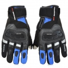 SCOYCO MC17 Waterproof Capacitive Screen Touch Motorcycle Racing Gloves - Black + Blue ( XXL Size)