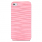 Wave Pattern Protective Plastic Back Case for Iphone 4 / 4S - Pink