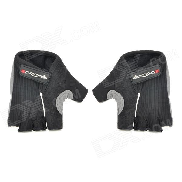 CoolChange Anti-Slip Half-Finger Bicycle Riding Cycling Gloves - Black (Size-XL / Pair) free soldier f pact outdoor tactical cycling half fingers nylon gloves black size m pair