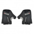 CoolChange Anti-Slip Half-Finger Bicycle Riding Cycling Gloves - Black (Size-XL / Pair)