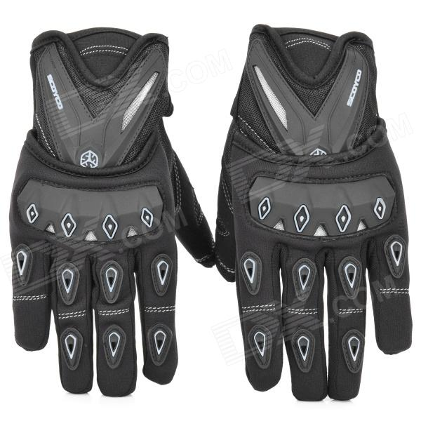цены SCOYCO MC10 Full-Fingers Motorcycle Racing Gloves - Black + White (Size XL)