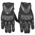 SCOYCO MC10 Full-Fingers Motorcycle Racing Gloves - Black + White (Size XL)