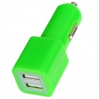 Dual USB Car Cigarette Lighter Charger for Ipad MINI / Ipad 4 / 3 / 2 - Green