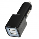 Dual USB Car Cigarette Lighter Charger for Ipad MINI / Ipad 4 / 3 / 2 - Black