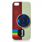 Camera Pattern Protective Plastic Back Case for Iphone 5 - White Brown