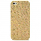 Shinning Pattern Protective Plastic Back Case for Iphone 5 - Golden