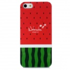 Watermelon Pattern Protective Plastic Back Case for Iphone 5 - Green + Red