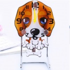 Lovely Pug Style Quartz Swing Desk Clock - Yellow (1 x AA)