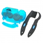 GUB 328 Bike Chain Cleaner Machine w/ Scrubber for Mountain Bicycle - Translucent Blue + Black
