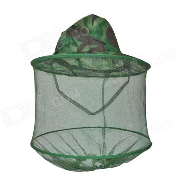 Outdoor Fishing Cap Hat w/ Mesh Hood Cover - Camouflage Color