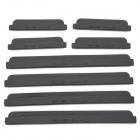 CY002 Car Crash Barriers Door Guard Strip Protectors - Black (8PCS)