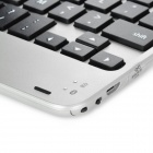 Bluetooth v3.0 59-Key Keyboard w/ Magnetic Slot for Ipad MINI / Iphone - Black + Silver