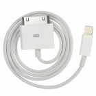 8Pin Lightning Male to Apple 30Pin Male Data Cable for iPhone 5 - White (65cm)