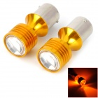 1156 15W 320lm Yellow Car Brake Lights w/ 4-CREE XBD (2 PCS)