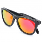 OREKA S1082 Fashionable UV400 Protection Resin Lens Sunglasses - Black