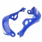 M0046 Cool Windproof Motorcycle Handlebar Guard Protector - Blue + Silver (2 PCS)