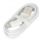 New Colorful Flashing USB 8Pin Lightning Data Cable for iPad Mini / iPad 4 / iPhone 5 - White