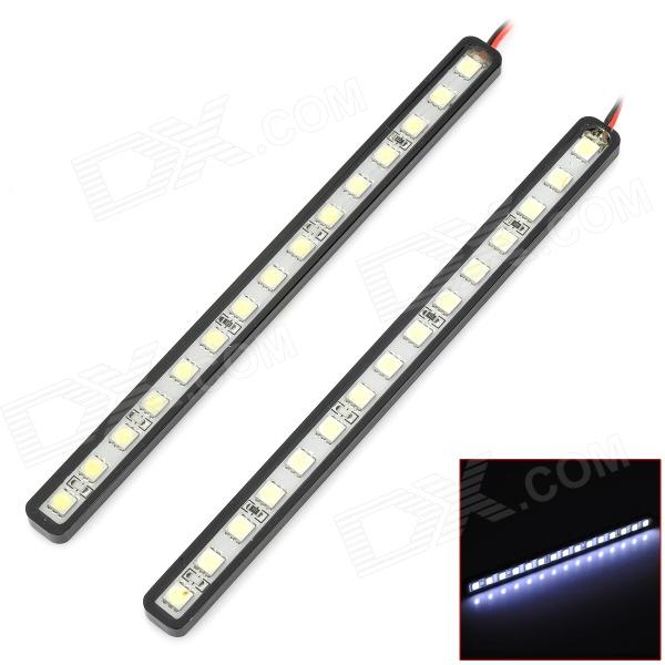 LY128 4.5W 220lm 15-SMD 5050 LED White Light Car Daytime Running Light - (DC 12V / 2 PCS) car styling top quality led daytime running light drl for mitsubishi outlander with yellow turn light function