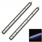 LY128 4.5W 220lm 15-SMD 5050 LED White Light Car Daytime Running Light - (DC 12V / 2 PCS)
