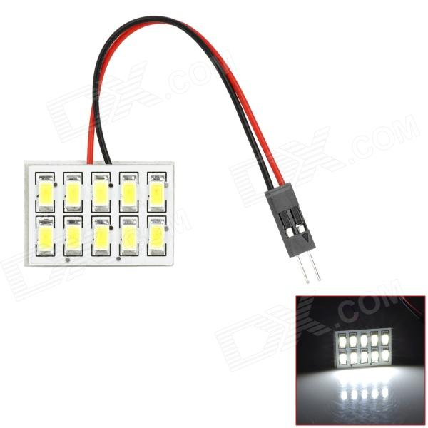 RL13121016 BA9S / T10 / Festoon 5W 450lm 10-SMD 5630 LED White Light Car Tail / Reading Lamp - (12V) 8 64w 48 5050 smd led car reading interior dome light w t10 ba9s festoon 31 41mm connectors