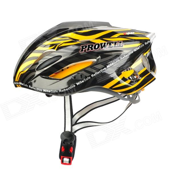 PROWELL F-59R Outdoor Sports Cycling 18-Vent EPU Helmet w/ Reflective Stripe - Yellow + Black шлемы prowell prowell c 42 ithaka р р s 52 58cm серия kid sport