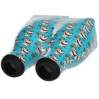 Cute Cartoon Pattern 3D MAX Stereo Glasses for Iphone 5 / 4 / 4S - Blue + Black