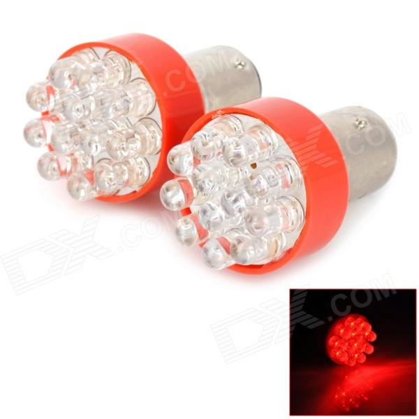 LY261 1157 1.2W 48lm 12-LED Red Light Car Brake Lamps (2 PCS)