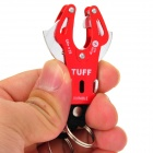 Portable Alloy Aluminum Karabiners / Carabiners w/ Key Rings - Golden + Red (3 PCS)