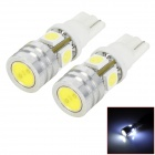 LY257 2W 140lm 4-SMD 5050 LED + 1-LED White Car Width Lamps (2 PCS)