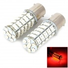 1156 4.5W 250lm 68-SMD 3528 LED Red Car Steering / Brake / Tail / Backup Lights (2 PCS)