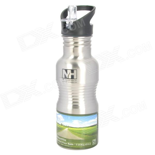 NatureHike-NH USA Style Large Mouth Opening Stainless Steel Water Bottle Kettle - Silver (500mL)