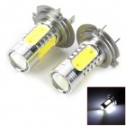 H7 7.5W 600lm 5-LED Cool White Car Foglights (2 PCS)
